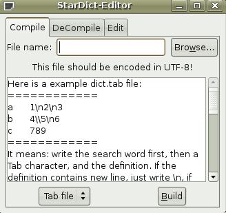 Stardict Editor